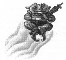 Mary GrandPré's illustration of Peeves.