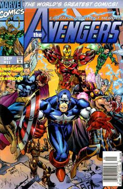 The Avengers vol. 2, #11 (Sept. 1997), showing...