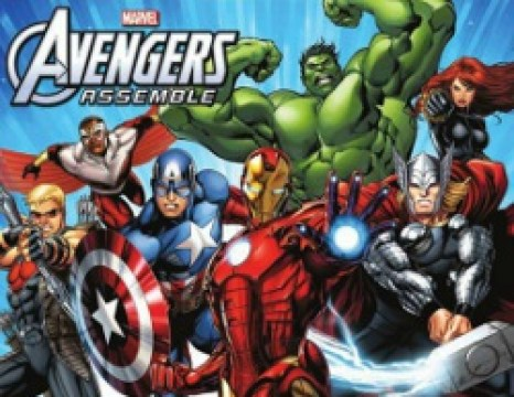 "Promotional poster for the TV series, ""Avengers Assemble"""
