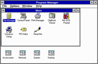 Windows 3.1 Program Manager