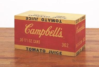 File:Campbell's Tomato Juice Box. 1964. Synthetic polymer paint and silkscreen ink on wood.jpg
