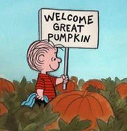 Linus awaits the Great Pumpkin.