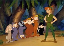 Disney's Peter with the Lost Boys