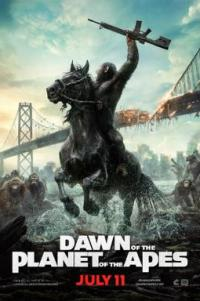 Poster for 2014 sci-fi sequel Dawn of the Planet of the Apes