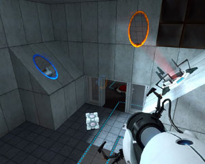 Screen capture of the game Portal.