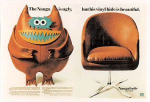 Advertising campaign showing the fictional Nau...