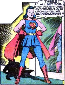 Lois Lane's first appearance as Superwoman. Ar...