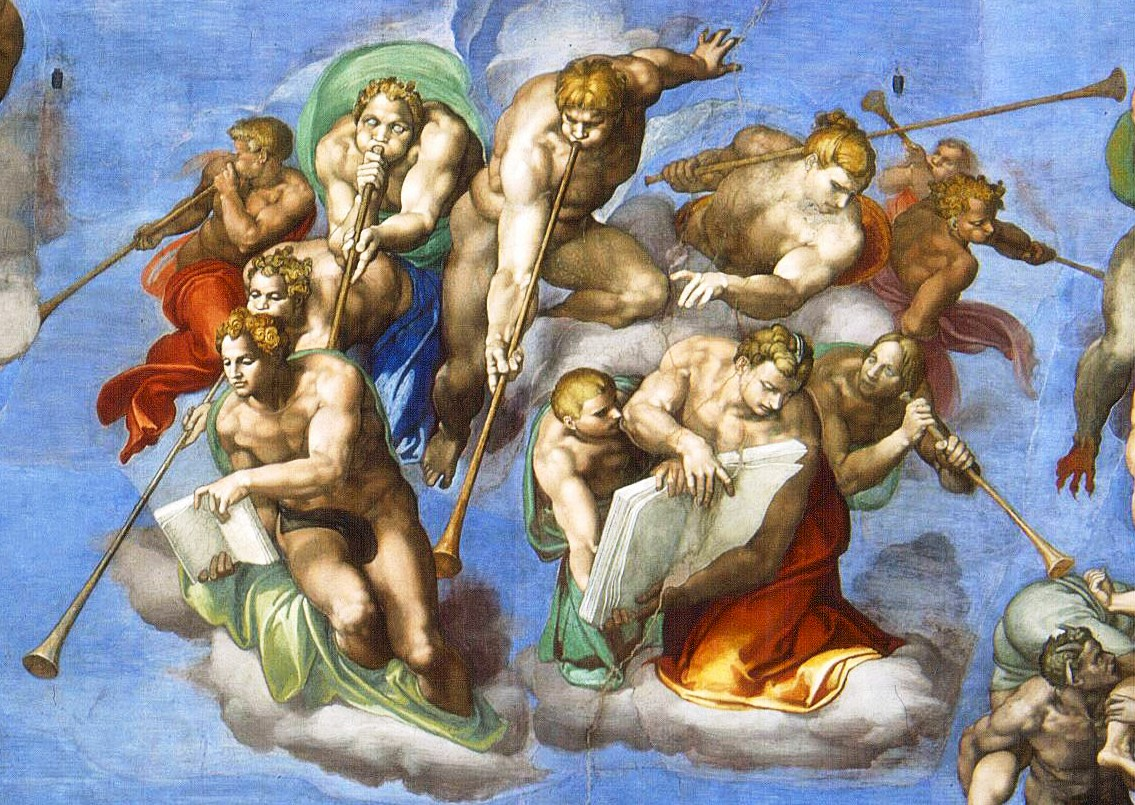 Lower center of the The Last Judgement by Mich...