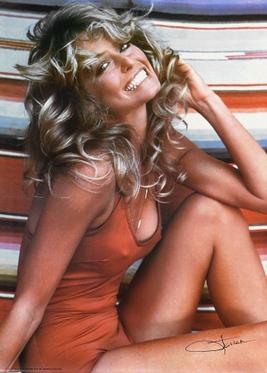 Farrah Fawcett and the eternal hair with wings.