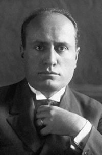 A young Mussolini in his early years in power.