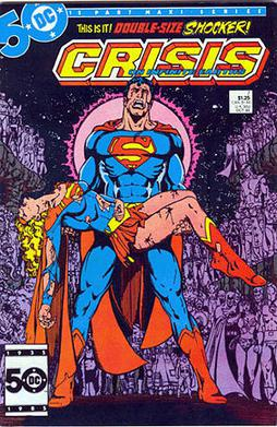 The death of Supergirl, featured on the cover ...
