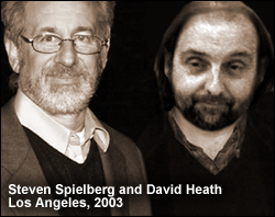 David Heath with film director Steven Spielberg