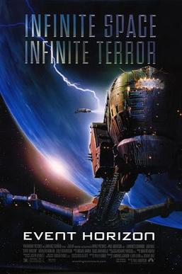 "Picture of spacecraft with the text ""Infinite size, Infinite Terror"""