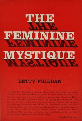 Book cover for The Feminine Mystique