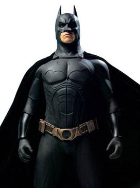 The Batsuit of Batman Begins, worn by Christia...