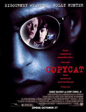 Film poster for Copycat - Copyright 1995, Warn...