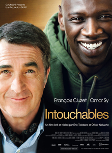 The Intouchables   Wikipedia The Intouchables jpg  French theatrical release poster