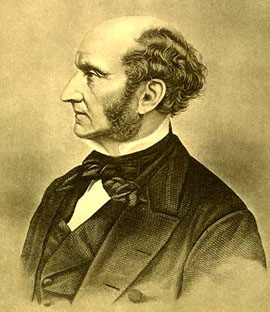 John Stuart Mill. 19th century Photogravure po...