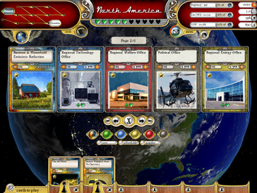 main screen gameplay Fate of the World