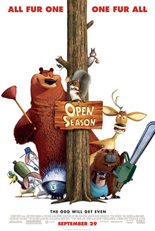 Film poster for Open Season (film) - Copyright...