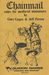 Chainmail is a medieval miniature wargame created by Gary Gygax and Jeff Perren.