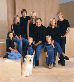 The cast of 7th Heaven