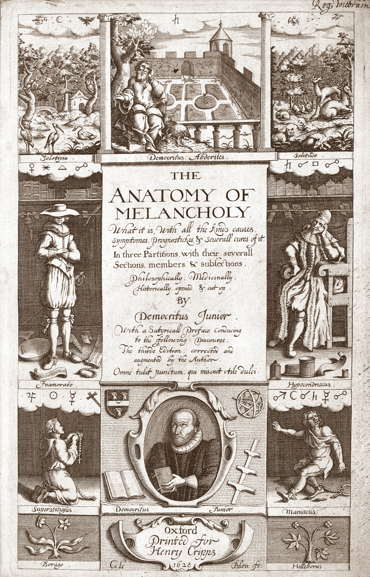 Frontispiece for the 1638 edition of The Anato...