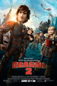 Poster for 2014 animated comedy sequel How to Train Your Dragon 2