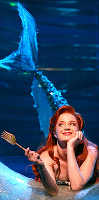 Sierra Boggess as Ariel in the stage musical