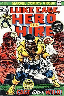 Luke Cage, Hero for Hire #15 (Nov. 1973). Cove...