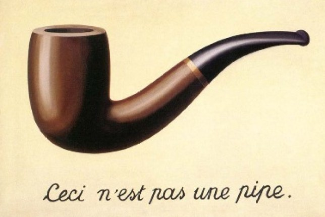 Magritte painting Treachery of Images