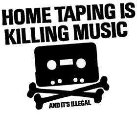 An anti-home taping ad.