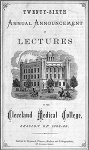 Cover of the Medical School catalog of 1868-69.