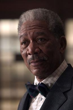 Morgan Freeman as Lucius Fox from Batman Begins.