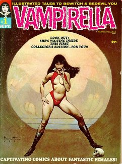 Vampirella #1 (Sept. 1969). Cover art by Frank...