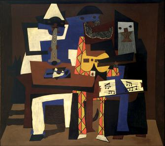 Pablo Picasso, Three Musicians (1921), Museum ...