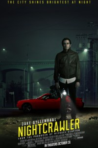 Poster for 2014 dramatic thriller Nightcrawler