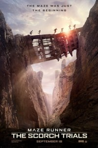 Poster for 2015 dystopian sci-fi sequel Maze Runner: The Scorch Trials