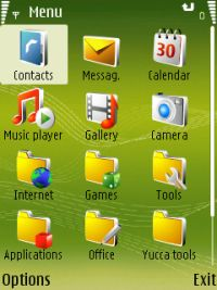 Screenshot of a typical Nokia S60 user interface.