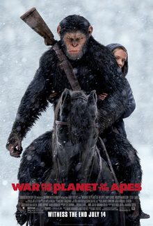 War for the Planet of the Apes dvd cover
