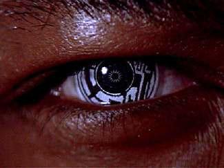 Ocular implants as worn by Geordi La Forge. Fr...
