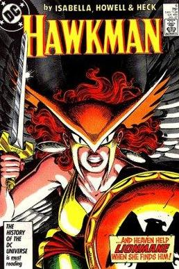 Shayera Hol on the cover to Hawkman v2 #6. Art...