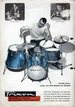 Trixon Telstar 200 drum set (from 1964 product...