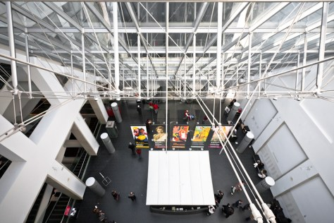 Montreal Museum of Fine Arts - atrium Desmarais Pavilion, photo by Andrew Louis