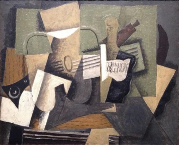 File:Georges Braque, 1918, Rhum et guitare, oil on canvas ...