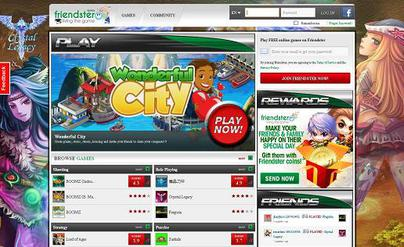 The new look of Friendster since July 2011.
