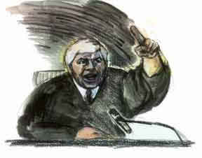 Judge Joseph Bonaventure, by courtroom artist ...
