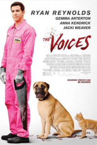 Poster for 2015 comedy-horror film The Voices