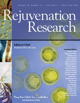 Rejuvenation Research, the academic journal edited by de Grey.
