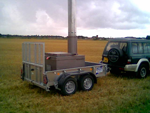 An example of a low capacity, mobile incinerator